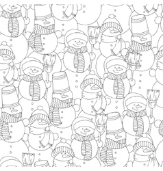 hand drawn snowman for adult vector image
