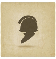 helmet icon old background vector image vector image
