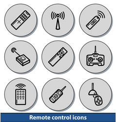 light remote control icons vector image