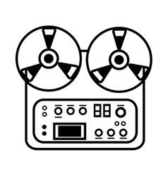 mixer console music electro icon design vector image