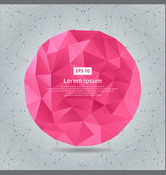abstract low polygonal circles geometric pink vector image