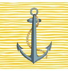 anchor and rope vector image vector image