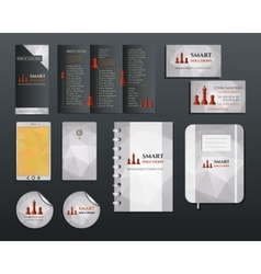 Business corporate branding identity set Brochure vector image vector image