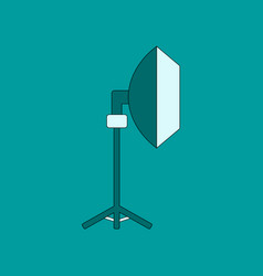 flat icon on background professional lighting vector image