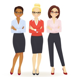 Three elegant business women vector image vector image