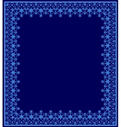 Blue frame with snowflakes vector image vector image