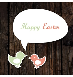 easter greeting card wooden vector image vector image