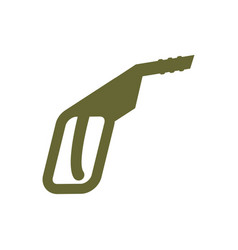 fuel gun isolated flat sign gas pump vector image vector image