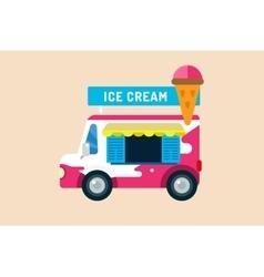 Ice cream truck van vector image