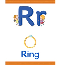 Learning Alphabet R vector image vector image