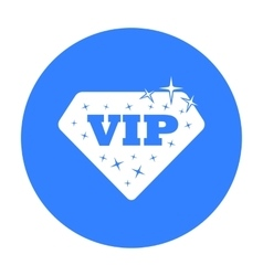 VIP icon in black style isolated on white vector image vector image