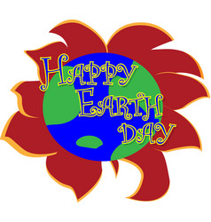 earth day concept planet earth in the form of a vector image