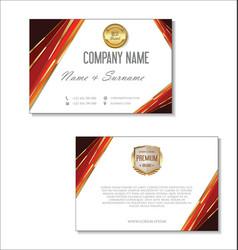elegant business card design template 06 vector image vector image