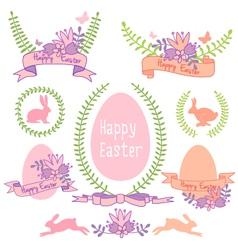 Happy Easter design set vector image vector image