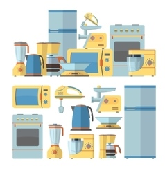 Modern kitchen appliances set vector image vector image