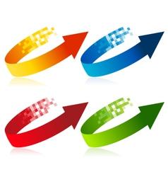 Pixel Arrow Symbols vector image vector image