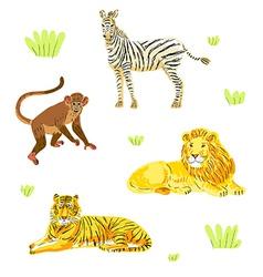 safari animals set vector image vector image