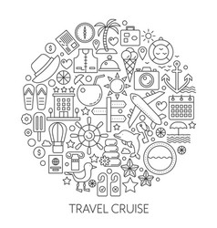 travel cruise thin line concept vector image