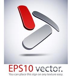 3d modern triangle logo icon vector