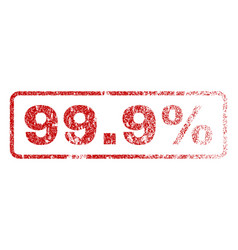999 percent rubber stamp vector