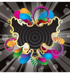 Abstract Festive Card Background vector image vector image