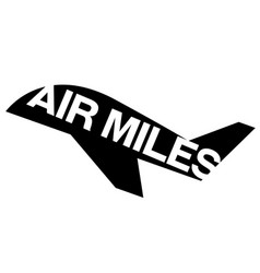 Air miles sticker vector