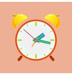 Alarm Clock Isolated on Orange Background vector