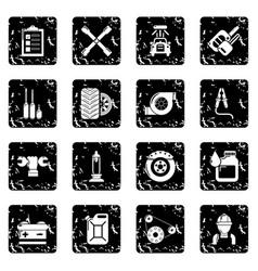 Auto repair icons set grunge vector