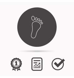 Baby footprint icon Child foot sign vector image