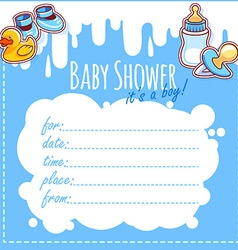 Baby Shower Card Its a boy vector image