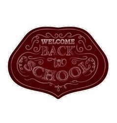 Back to school badges sticker set White chalk vector