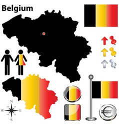 Belgium map small vector image