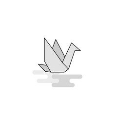 bird web icon flat line filled gray icon vector image