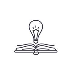 book wisdom line icon concept book wisdom vector image
