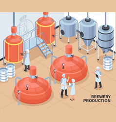 Brewery production isometric vector
