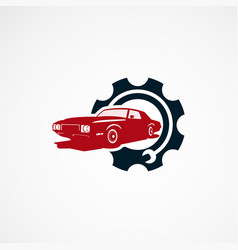 car repair logo designs concept for company vector image