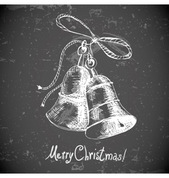 Christmas bell for retro design vector image
