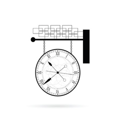 clock instrument on white vector image