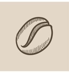 Coffee bean sketch icon vector