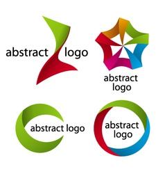 Collection abstract multicolored logo ta vector