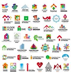 Collection logos construction vector