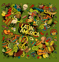 Colorful hand drawn doodle latin american vector