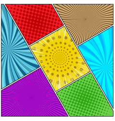 comic book colorful diagonal background vector image