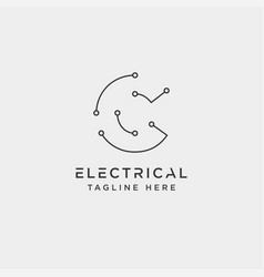 connect or electrical c logo design icon element vector image