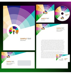 creative corporate identity colored brush vector image