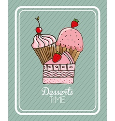 Delicious bakery vector
