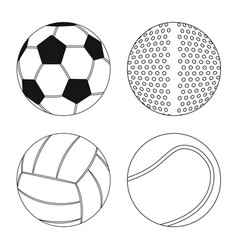Design sport and ball icon set sport vector