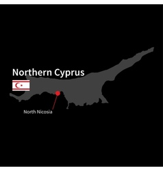 Detailed map of Northern Cyprus and capital city vector