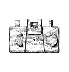 diy pinhole camera vector image