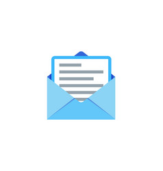 document mail logo icon design vector image